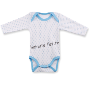 Body maneca lunga 18-36 luni,buline bleu - Copy