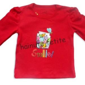 Bluza smile,rosu inchis