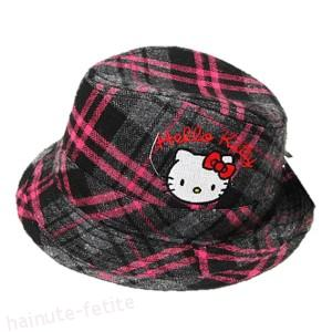 Palarie gri-roz Hello Kitty