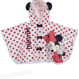 Pelerina ploaie alba bebe Minnie Mouse