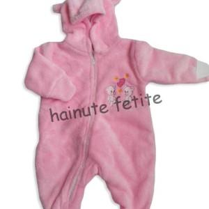 Salopeta bebe ursulet,roz-fata