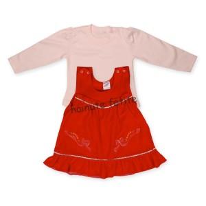 Sarafan catifea cu bluza,rosu inchis