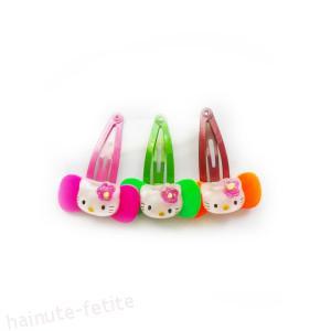 Set 3 clame Hello Kitty,ciclam-verde-portocaliu