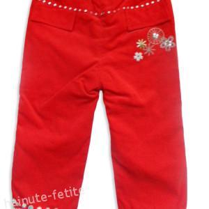 Pantalon reiat sport,rosu-fata