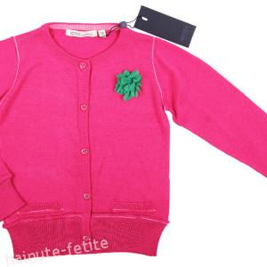 Cardigan floare,fuchsia