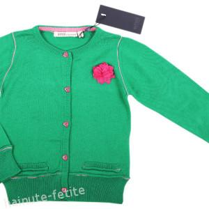 Cardigan floare,verde