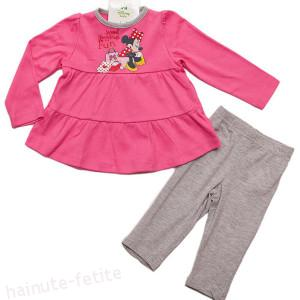 Compleu Minnie shopping for fun,fuchsia-gri