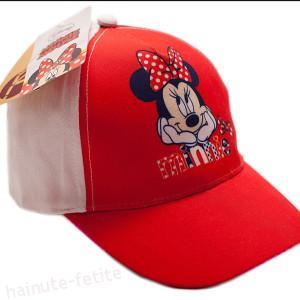 Sapca Minnie Mouse,alb-rosu