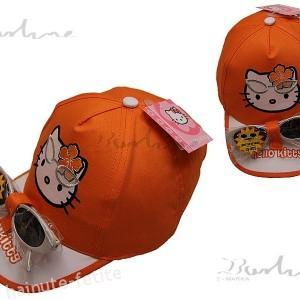 Sapca cu ochelari Hello Kitty,portocalie