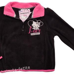 Bluza polar Charmmy Kitty,negru-fuchsia