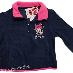 Bluza polar Minnie Mouse,bleumarin-fuchsia