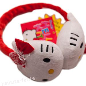 Casti Hello Kitty,rosii