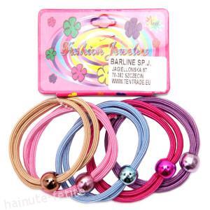 Set 5 elastice par,culori deschise