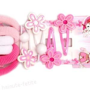 Set elastice,clamite si bilute par,alb-roz