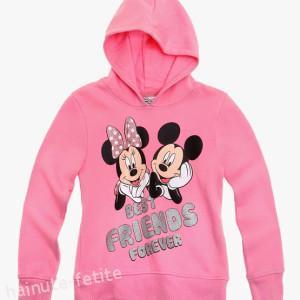 Bluza cu gluga Minnie si Mickey
