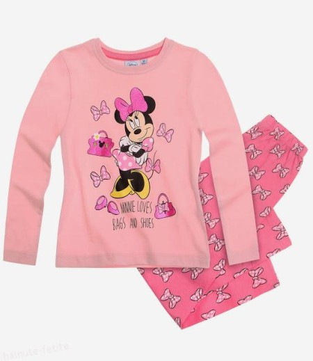 Pijama Minnie Mouse loves bags and shoes