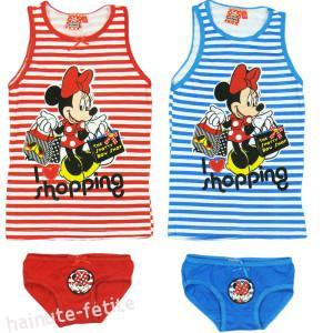 Set maiou+chilot Minnie Mouse dungi