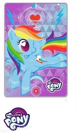 patura fleece my little pony micul meu ponei