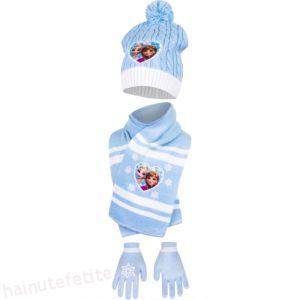 Set Căciula, Fular și Mănuși Frozen Ana & Elsa